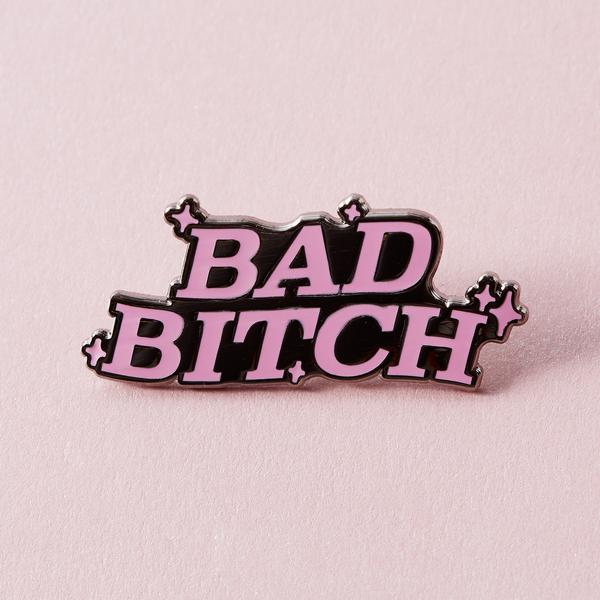 Pin with bad bitch and small stars