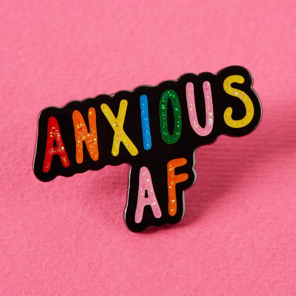 Anxious AF written in rainbow colors