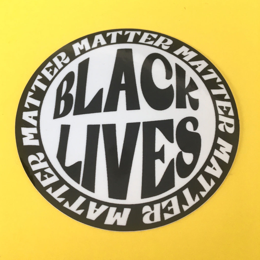 Black Lives Matter Circle Sticker