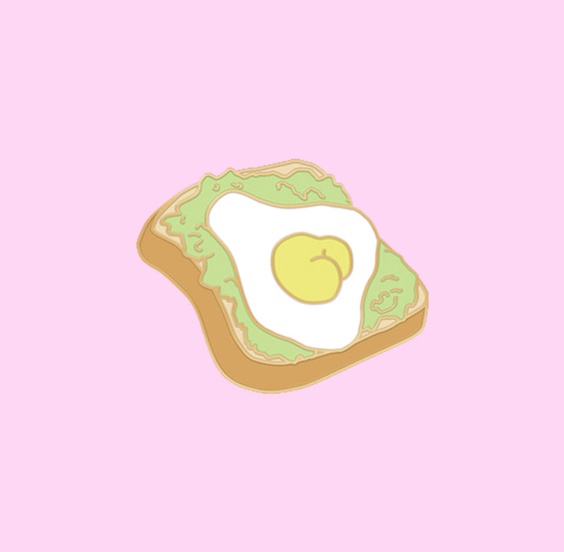 Avocado Toast Butt Pin