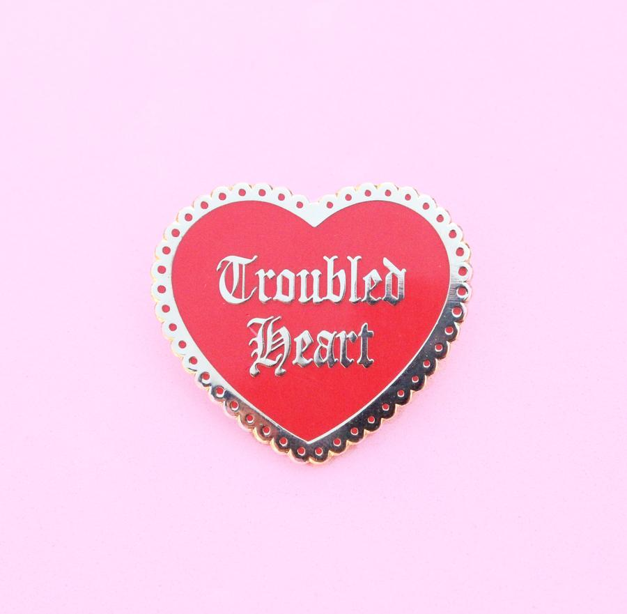 Troubled Heart Pin