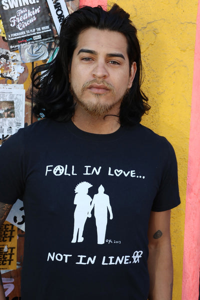Fall In Love Not In Line Shirt
