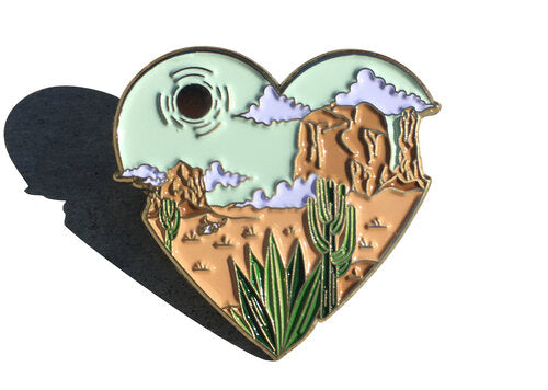 Wandering Heart Pin