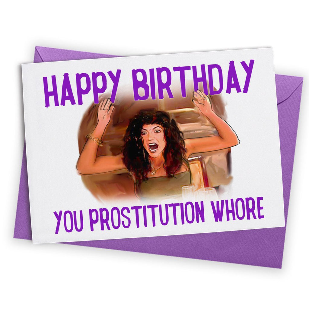Happy Birthday You Prostitution Whore Card