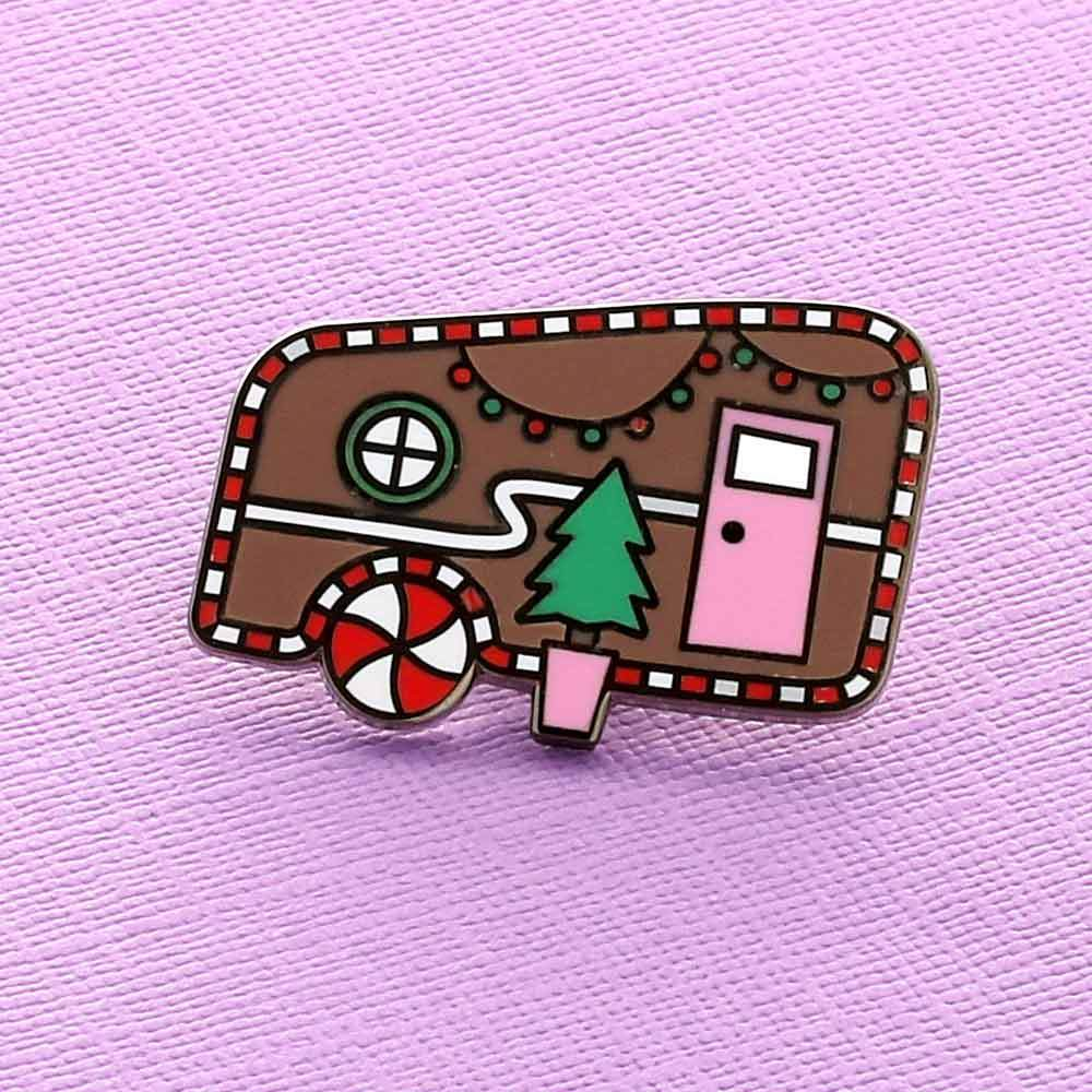 Gingerbread Caravan Pin