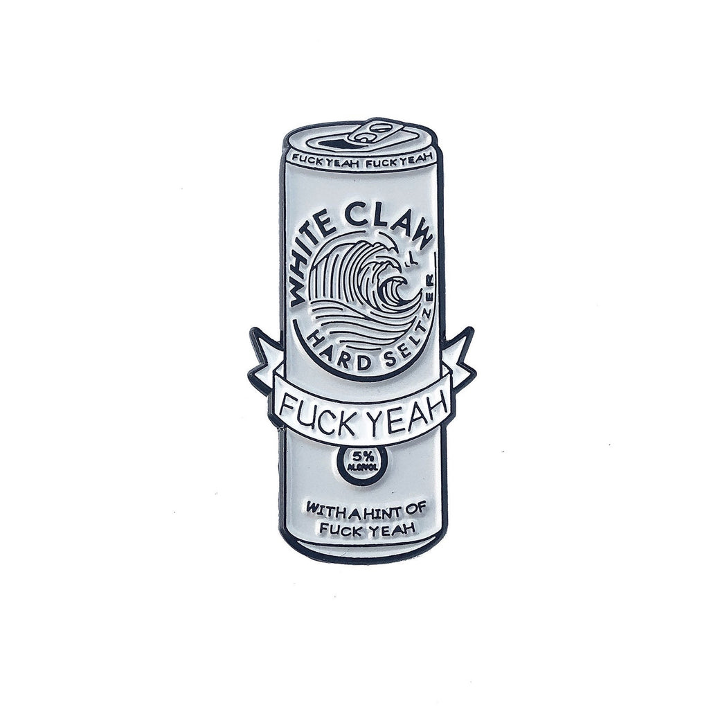 White Claw Pin