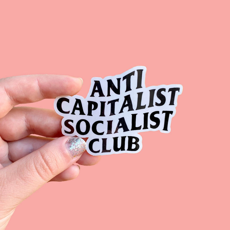 Anti Capitalist Socialist Club Sticker