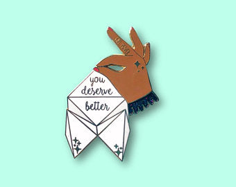 Origami Fortune Teller Pins