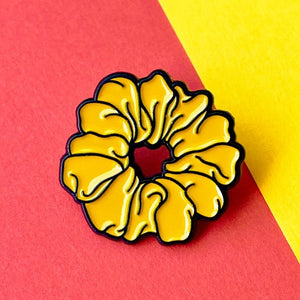 Yellow Scrunchie Pin