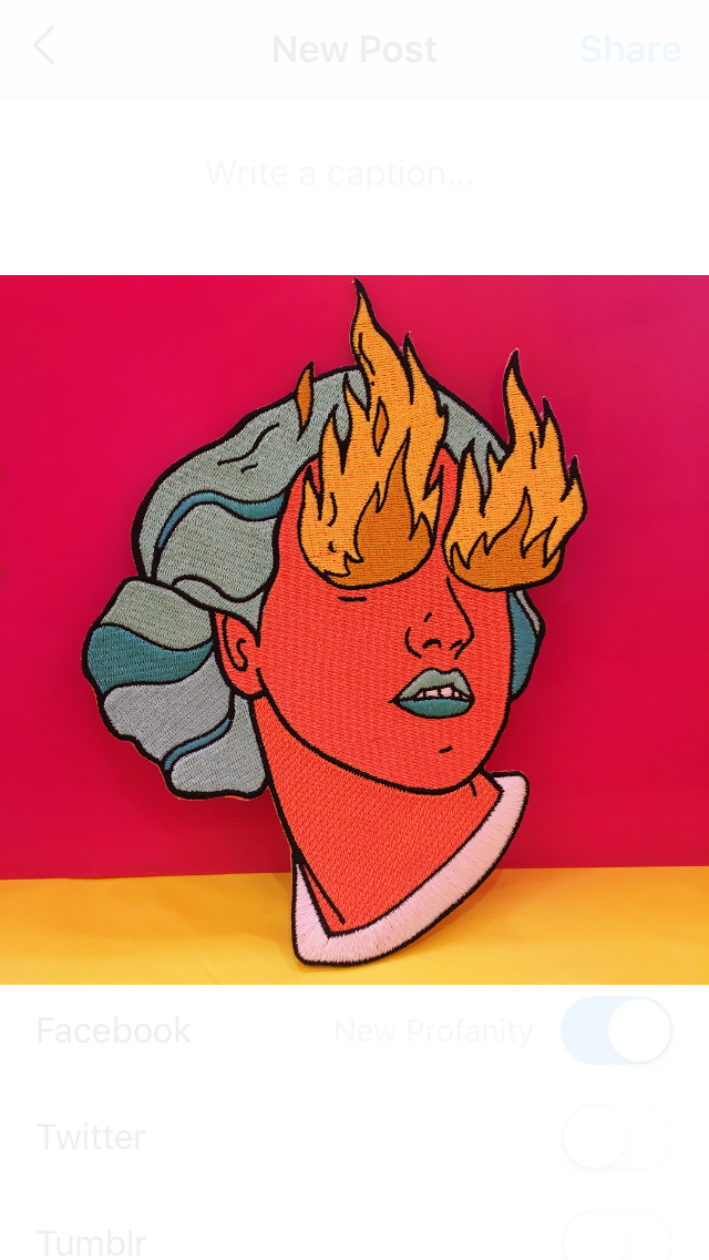 Fire Eye Girl Patch