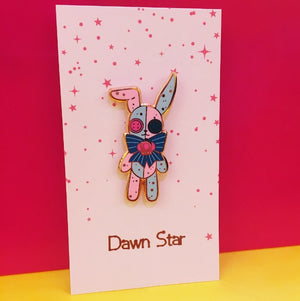 Patchwork Bunny Pin