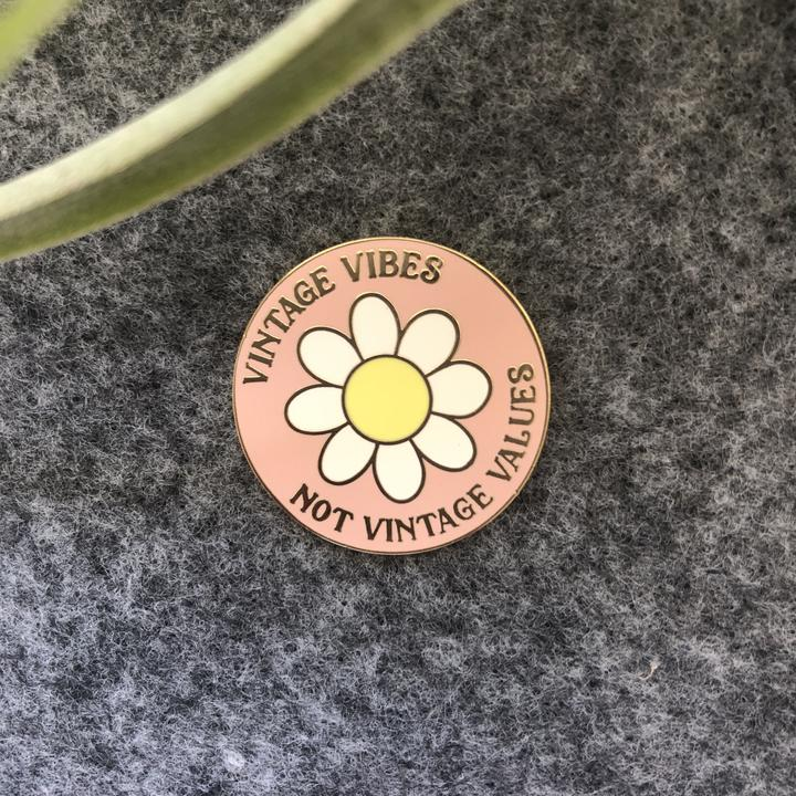Vintage Vibes Not Vintage Values Pin