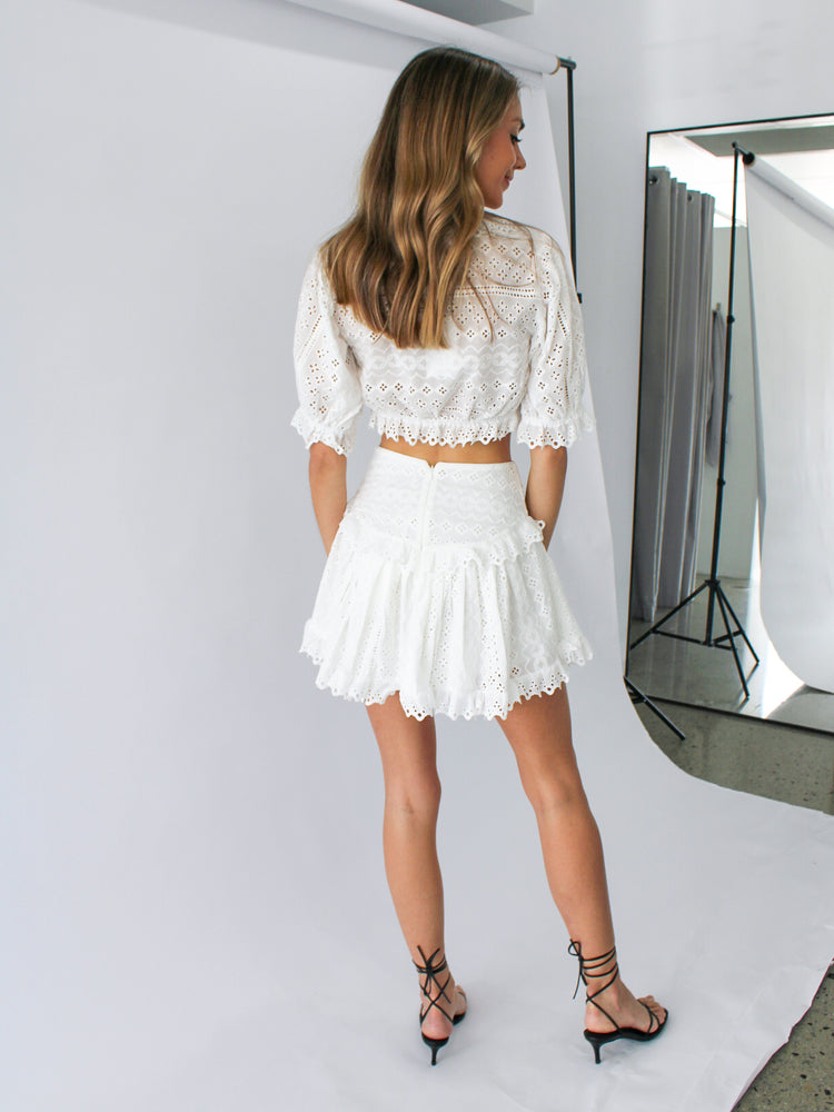 Load image into Gallery viewer, Astrid Skirt in White