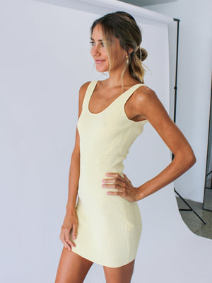 Load image into Gallery viewer, Mimi Knit Mini Dress In Butter