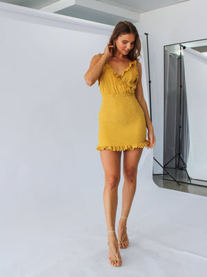 Abella Dress in Lemon