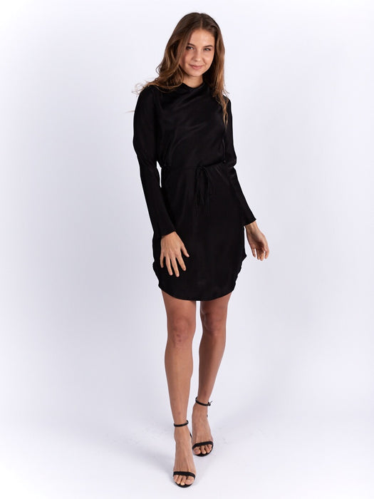 Zoe Cowl Dress in Black