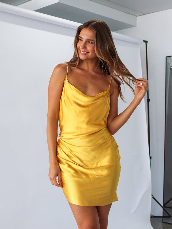 Ivet Dress in Lemon