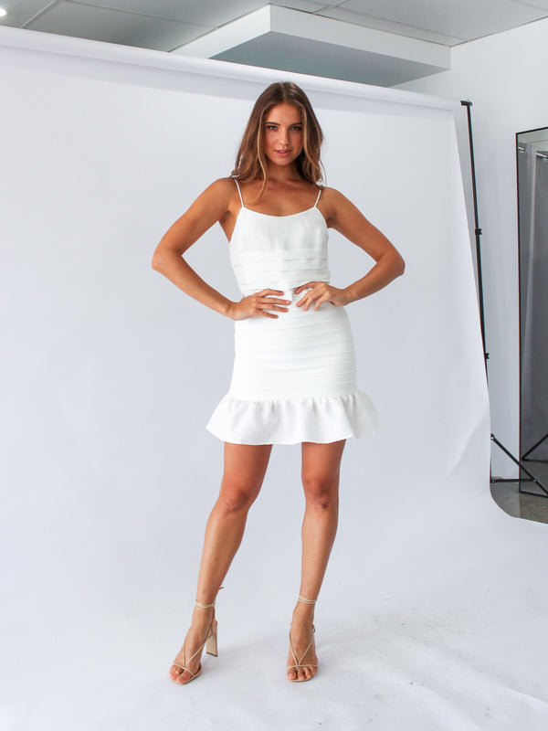Amoureaux Dress in White