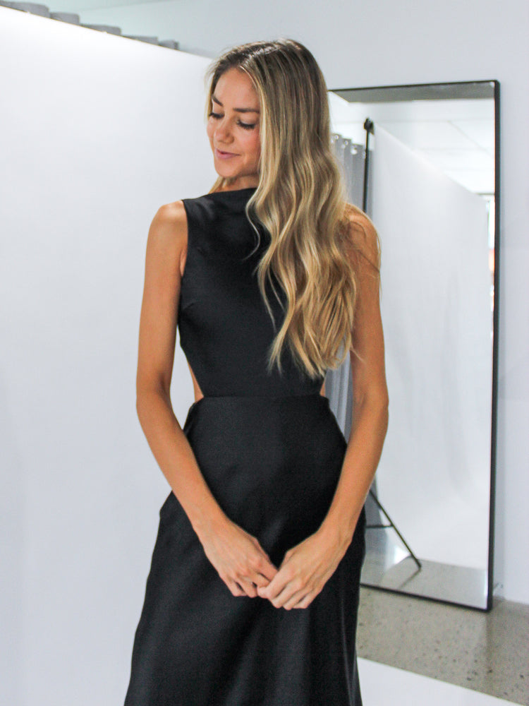 Seraphine Cut Out Dress in Black