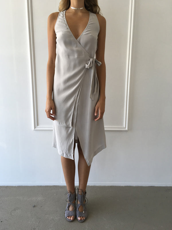 Harriet Dress in Dove Grey