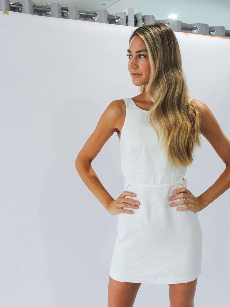 Alena Mini Dress in Ivory