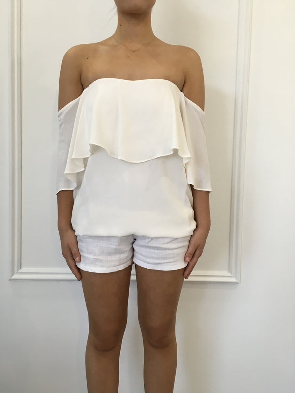 Haiku Off Shoulder Top in Warm Creme