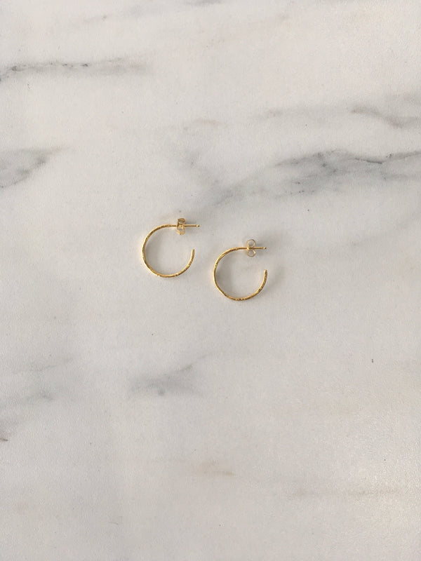 Gold Devotion Hoops