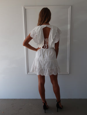 Load image into Gallery viewer, Leila Open Back Mini Dress