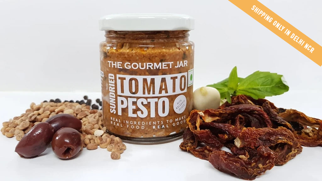 Sundried Tomato Pesto (with Kalamata olives) - 2 Jar combo (Shipping only in Delhi NCR)