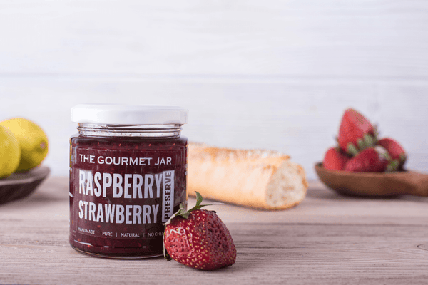Raspberry Strawberry Preserve (240 gms)-The Gourmet Jar
