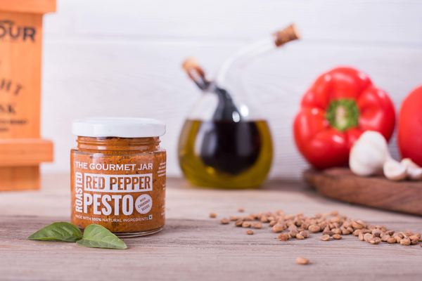 Roasted Red Pepper Pesto - 110 gms-The Gourmet Jar