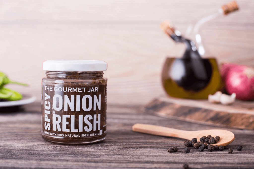 Spicy Onion Relish (240 gms)-The Gourmet Jar
