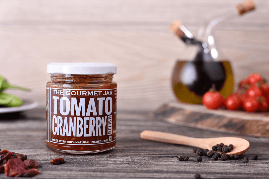 Tomato Cranberry Relish (240 gms)-The Gourmet Jar