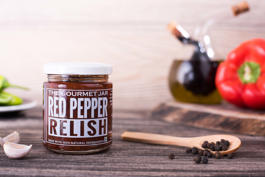 Red Pepper Relish (240 gms)-The Gourmet Jar