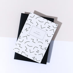 "Greeting Card - ""Birthday Card Black"""