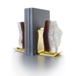 Bookends Fim - Natural Druze / Brass