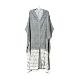 Shruti Rohini Long Kaftan - Black / White