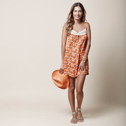 Andrea playsuit - Fan print - Orange