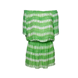 Holly Dress - Ikat print - Green
