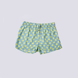 Sara shorts - Flower print - Blue/Celadon