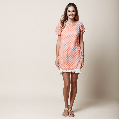 T-Shirt Dress - Pineapple - Papaya