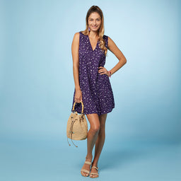 Florence Dress - Star Print - Purple / Lilac