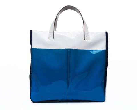 Tote Bag -Blue/White