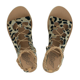Antigone Sandals - Pony Leopard