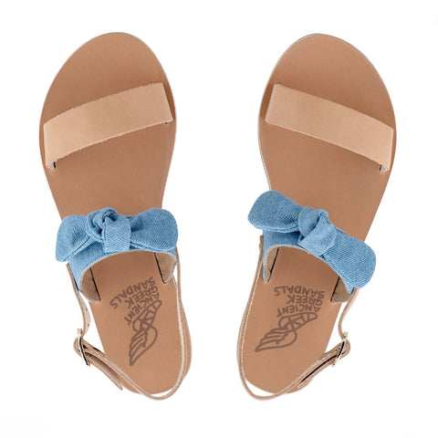 Clio Bow - Natural / Light Denim