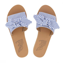 Taygete Bow - Stripes Blue/White