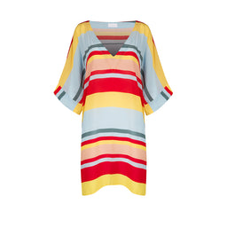 Beach Kaftan - Multi Bold Stripes - One Size