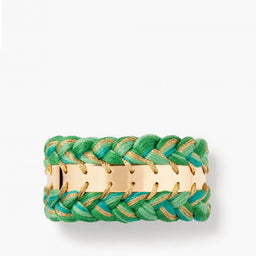 Copacabana double bracelet - Emerald green / Yellow gold