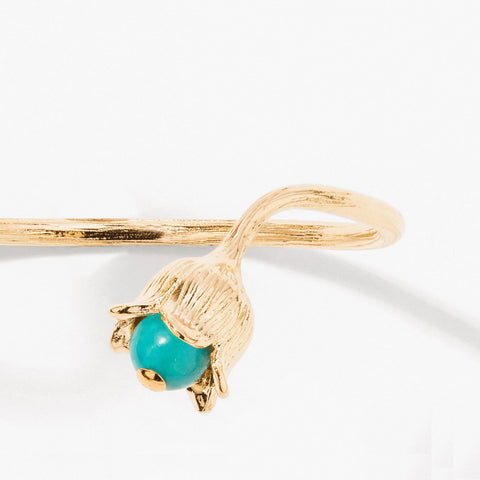 Lily Of The Valley Bangle - Turquoise