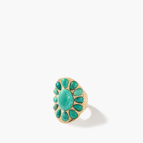 Navajo Ring - Turquoise / Yellow gold